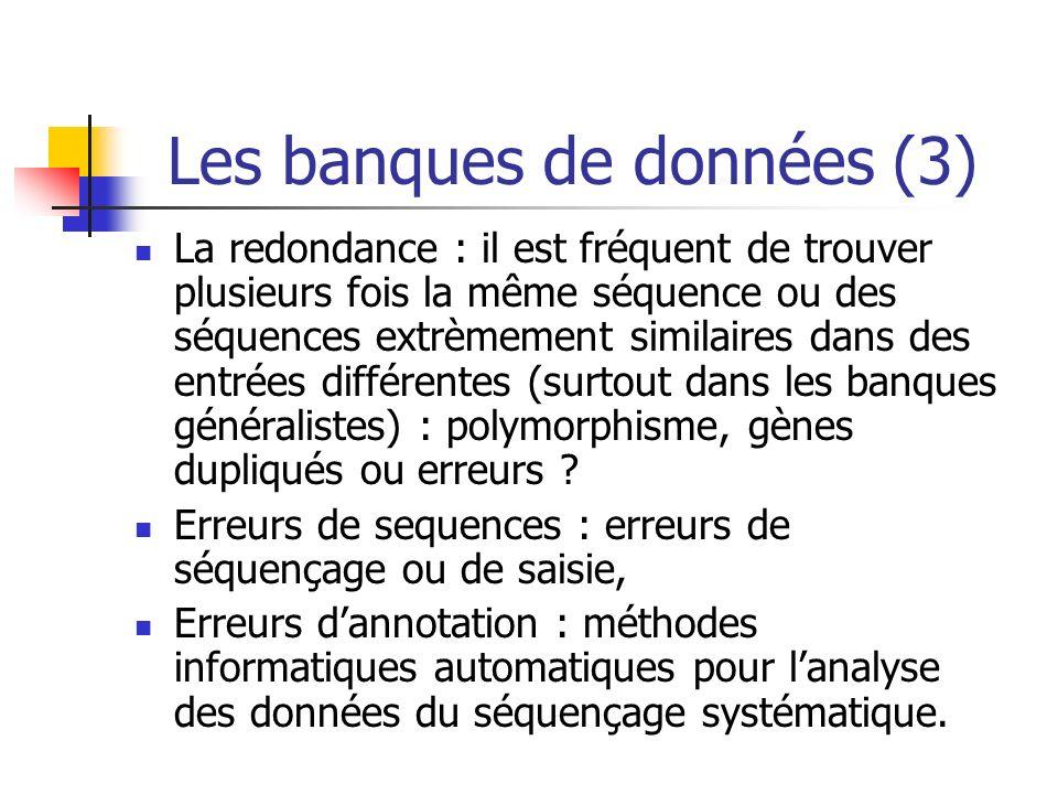 Les banques de données (3)