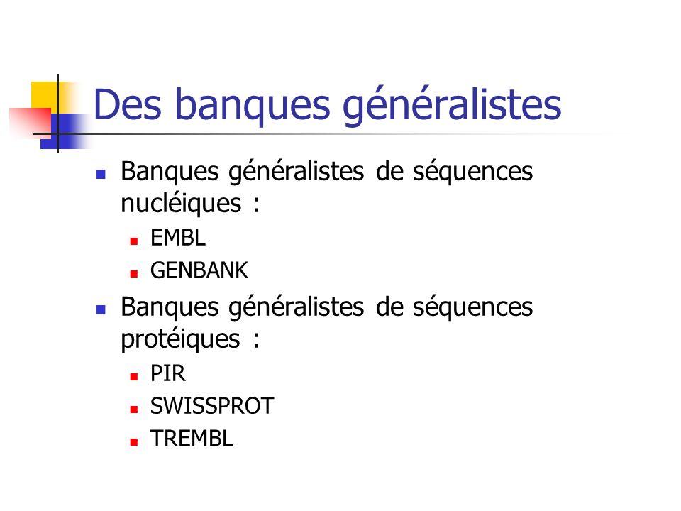 Des banques généralistes