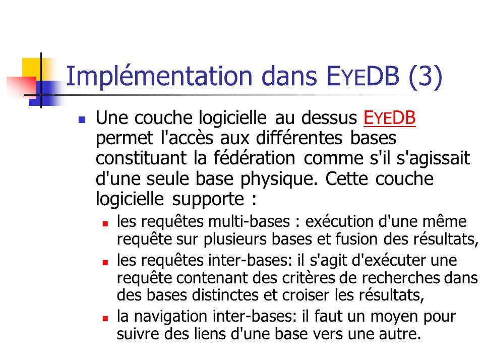Implémentation dans EYEDB (3)
