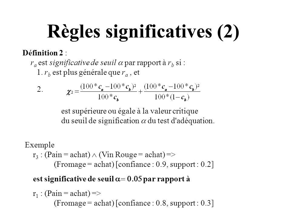 Règles significatives (2)
