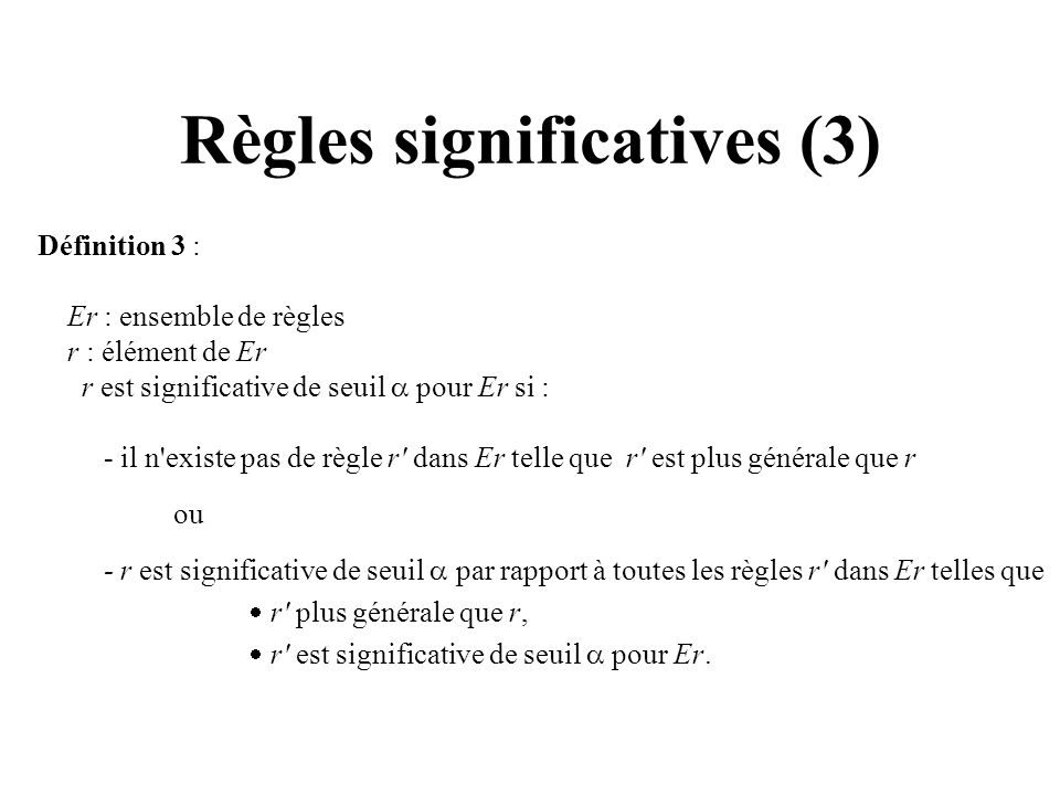 Règles significatives (3)