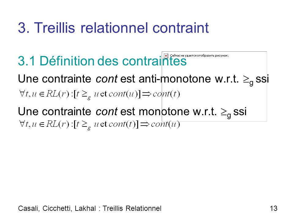 3. Treillis relationnel contraint
