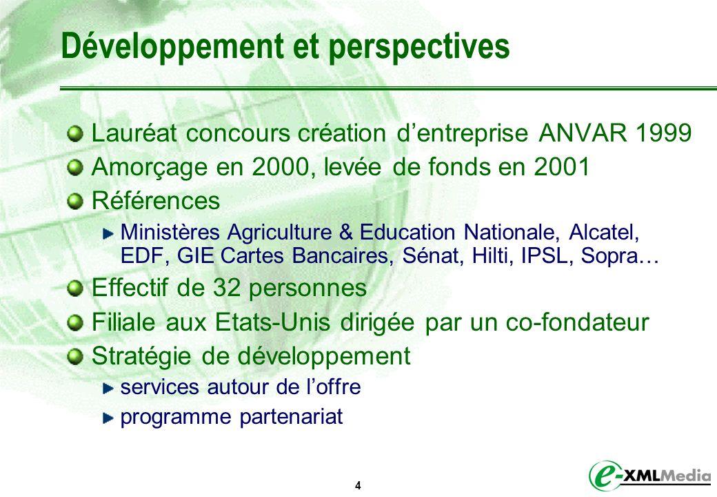 Développement et perspectives
