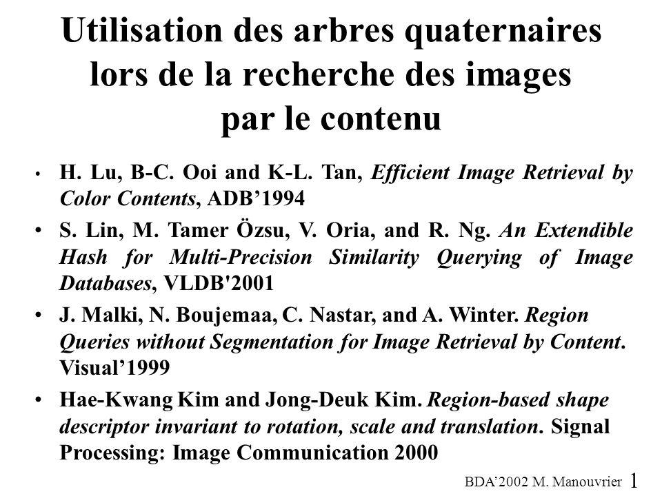 Utilisation des arbres quaternaires lors de la recherche des images par le contenu