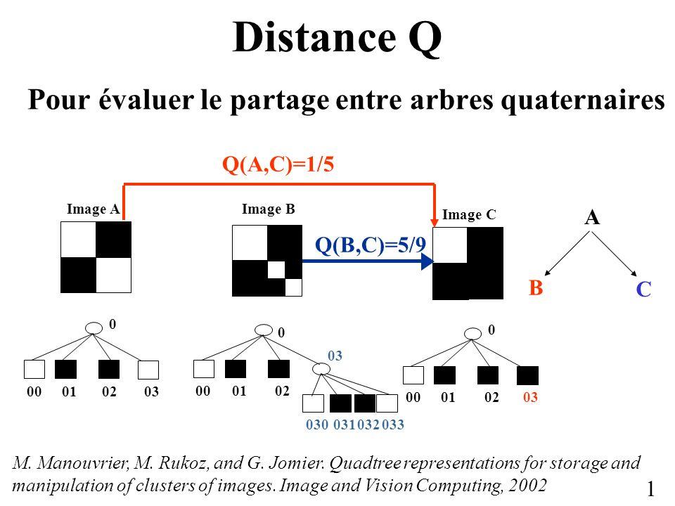 Distance Q Pour évaluer le partage entre arbres quaternaires