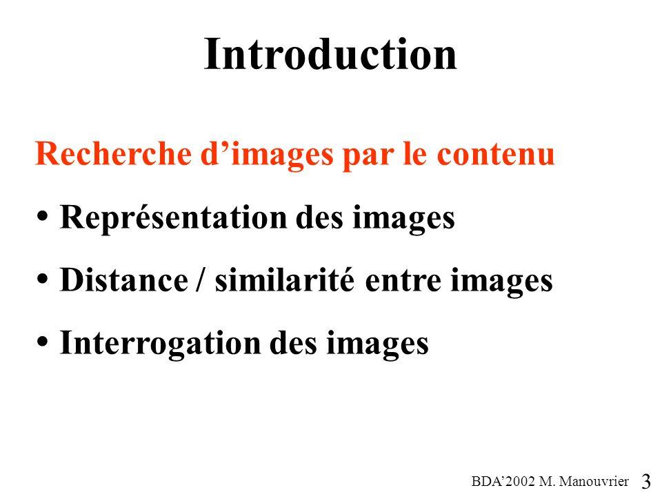 Introduction Recherche d'images par le contenu