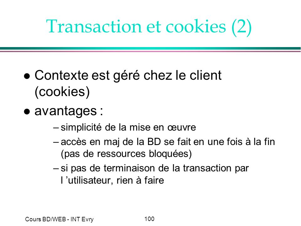 Transaction et cookies (2)