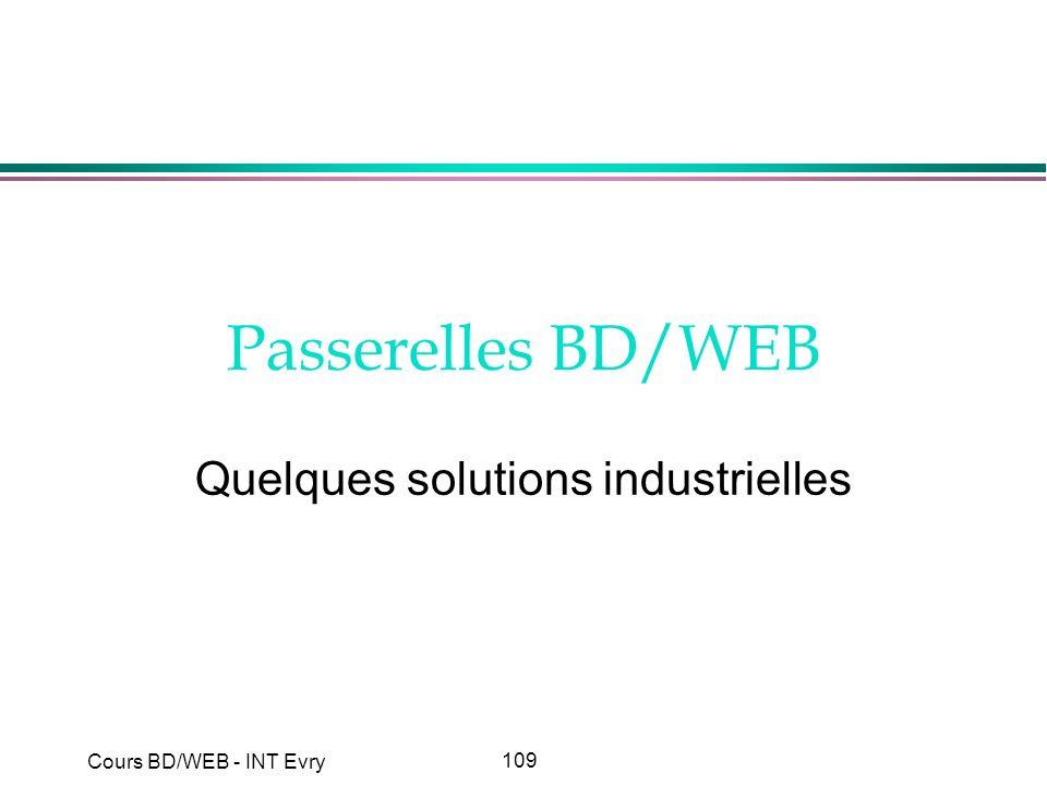 Quelques solutions industrielles