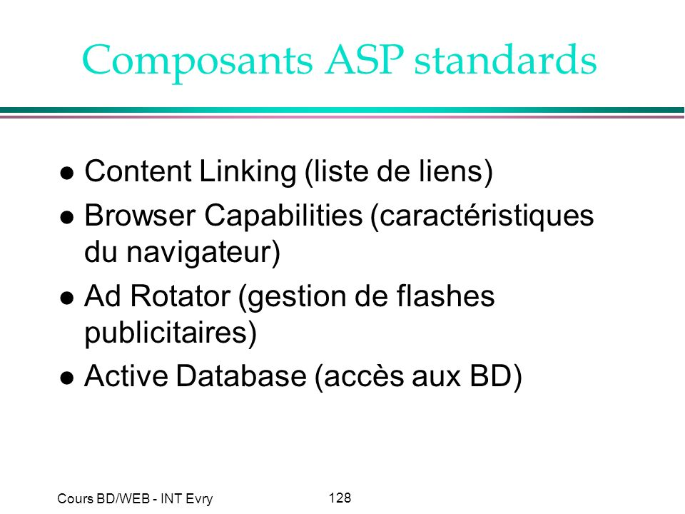 Composants ASP standards
