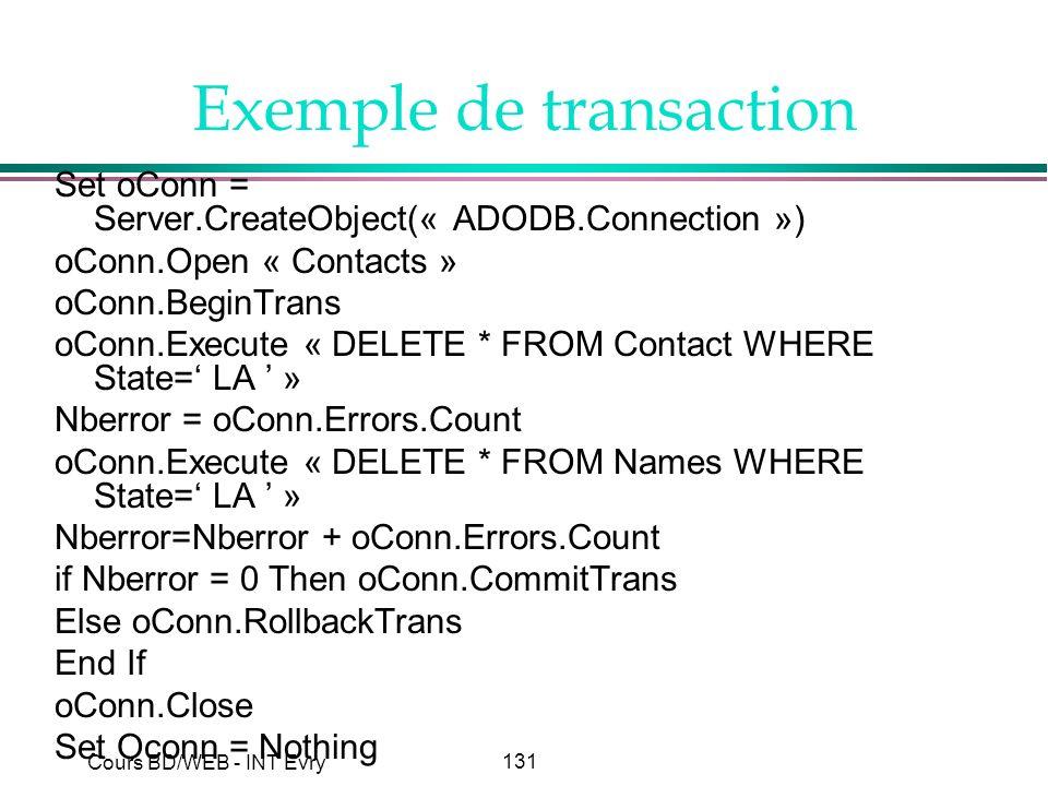 Exemple de transaction
