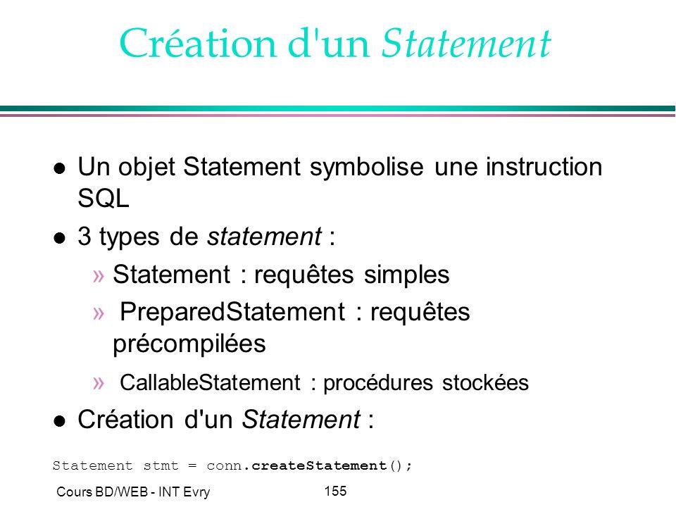 Création d un Statement