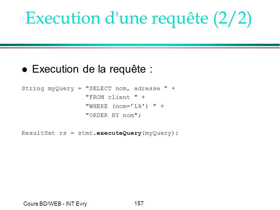 Execution d une requête (2/2)