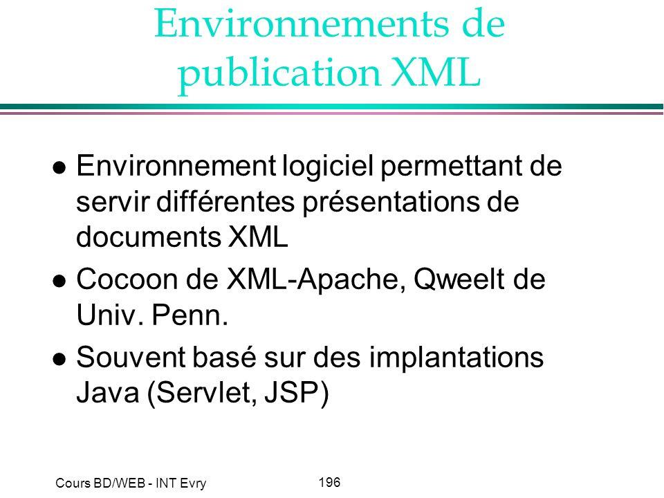 Environnements de publication XML