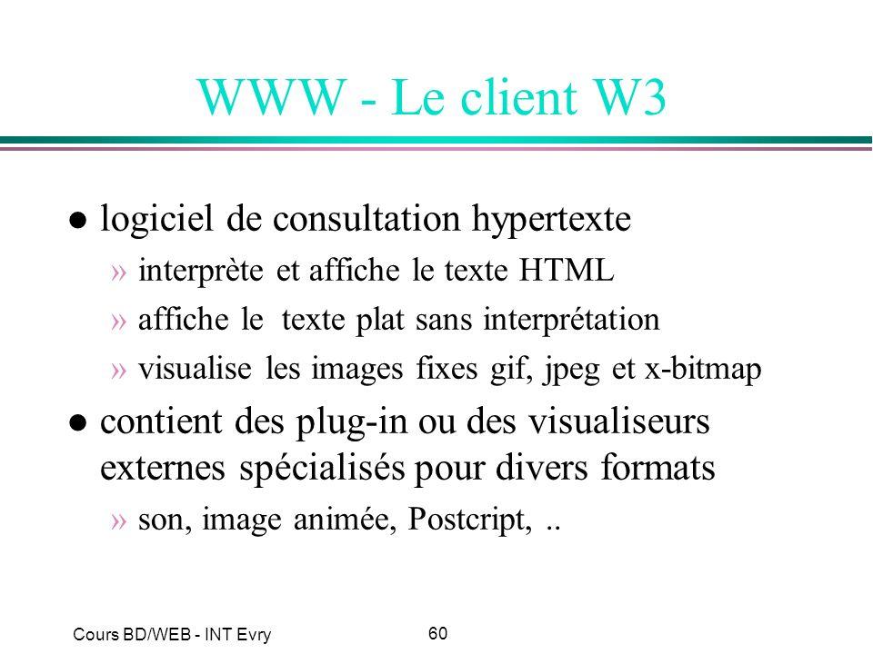 WWW - Le client W3 logiciel de consultation hypertexte