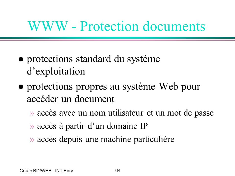 WWW - Protection documents