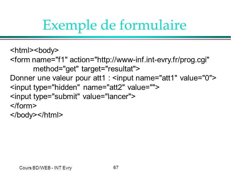 Exemple de formulaire <html><body>