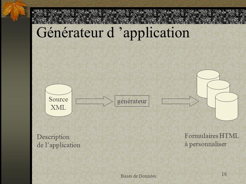Générateur d 'application