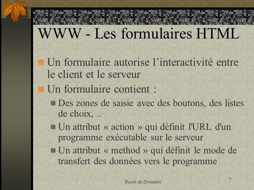 WWW - Les formulaires HTML