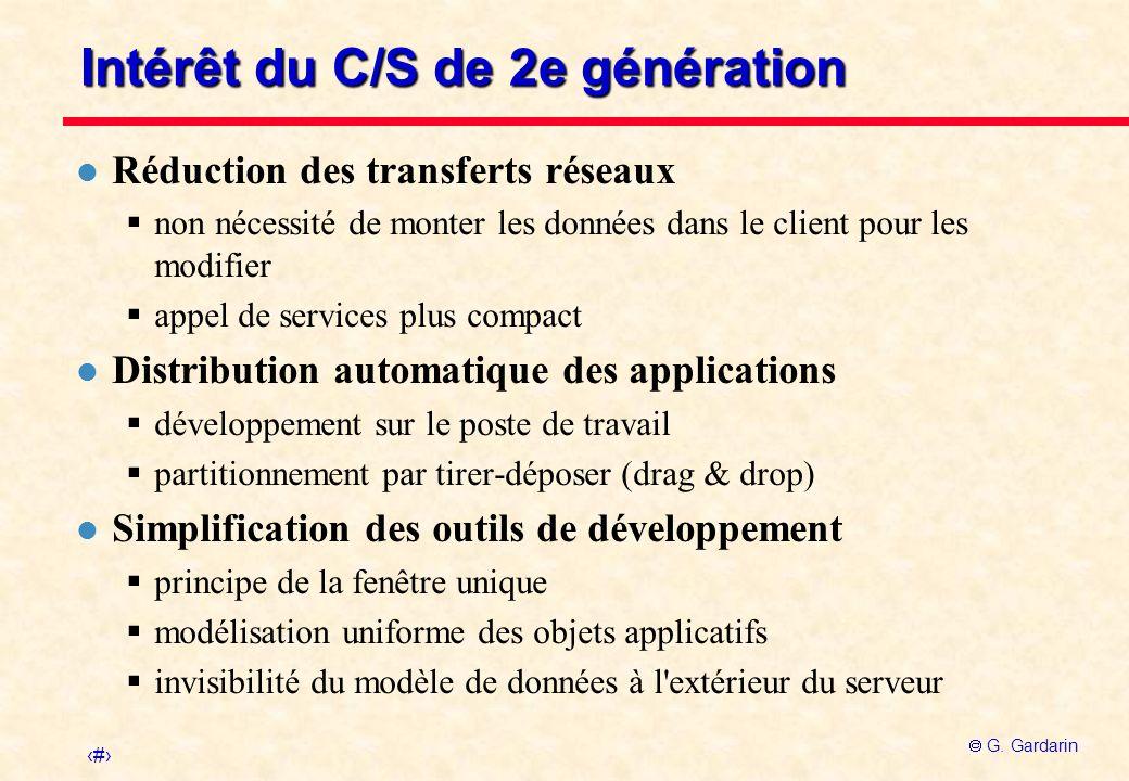 Intérêt du C/S de 2e génération