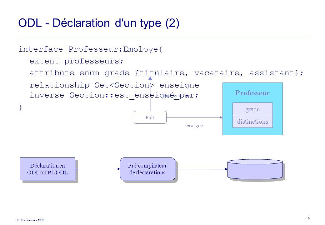 ODL - Déclaration d un type (2)