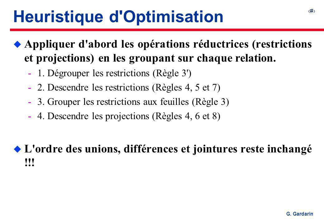Heuristique d Optimisation