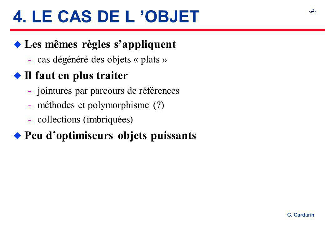 4. LE CAS DE L 'OBJET Les mêmes règles s'appliquent