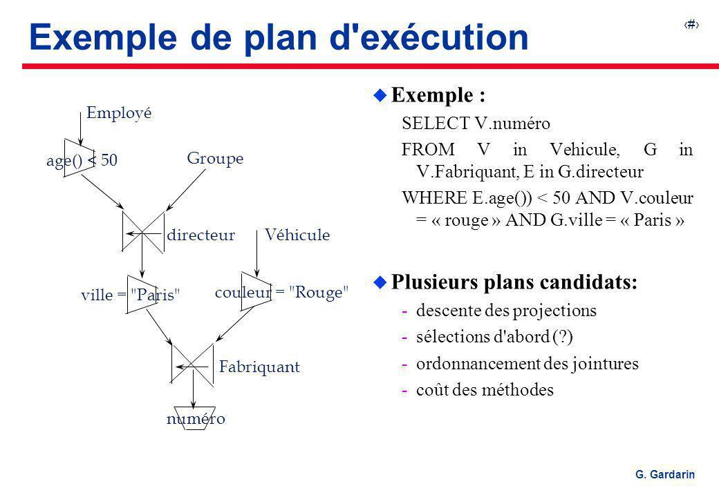 Exemple de plan d exécution