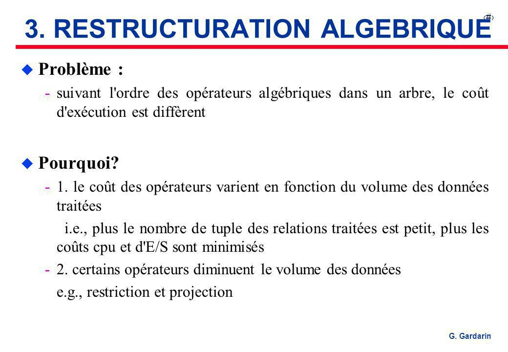 3. RESTRUCTURATION ALGEBRIQUE