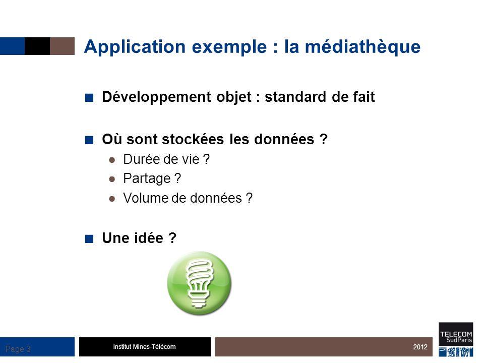 Application exemple : la médiathèque