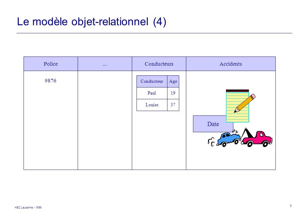 Le modèle objet-relationnel (4)