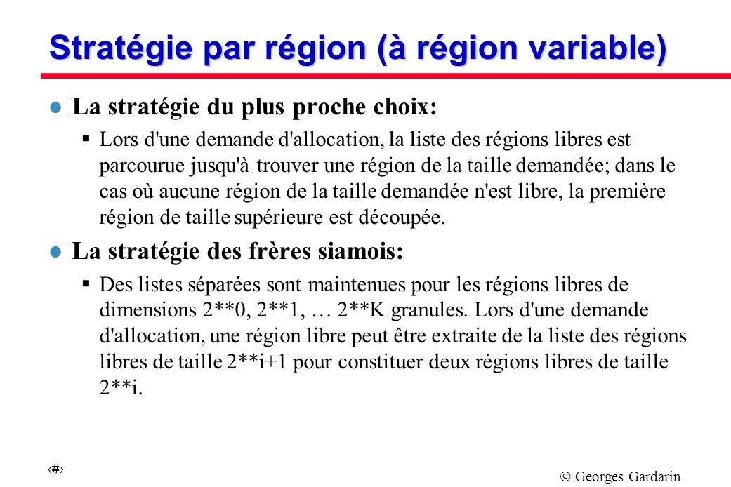 Stratégie par région (à région variable)