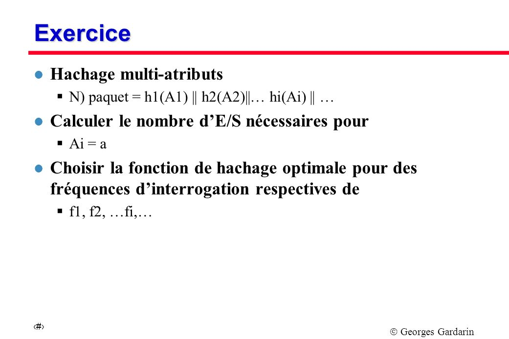 Exercice Hachage multi-atributs