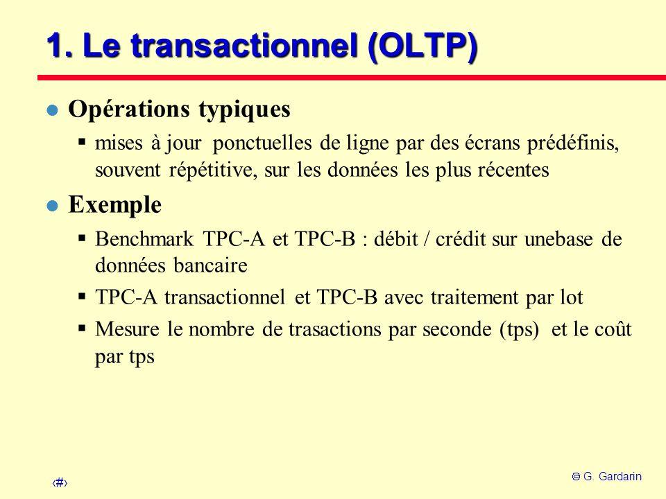 1. Le transactionnel (OLTP)