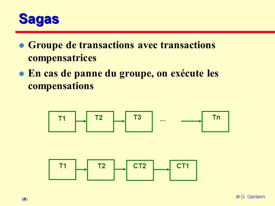 Sagas Groupe de transactions avec transactions compensatrices
