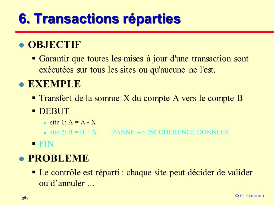 6. Transactions réparties