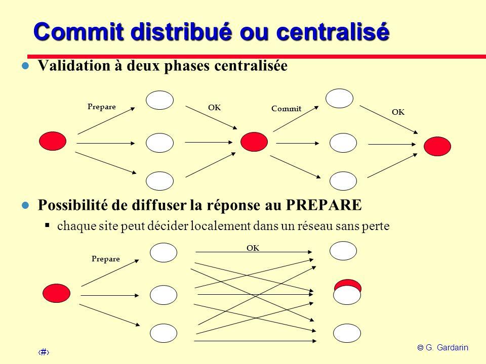 Commit distribué ou centralisé