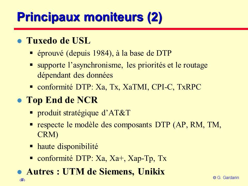 Principaux moniteurs (2)
