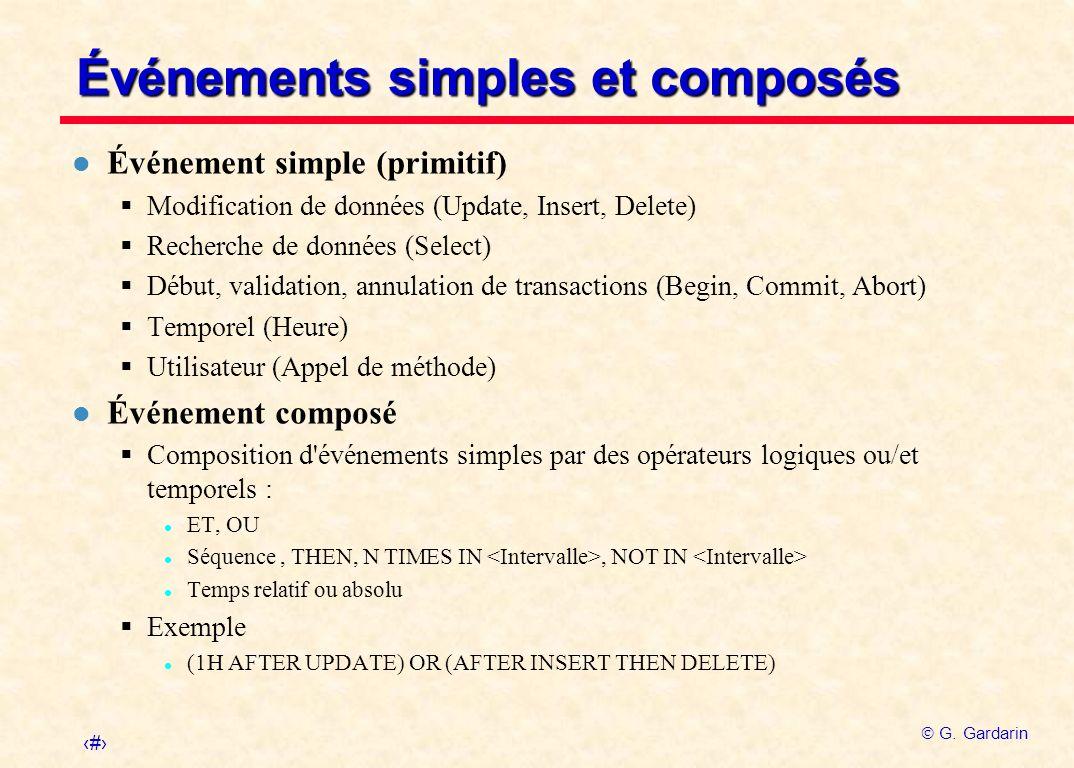 Événements simples et composés
