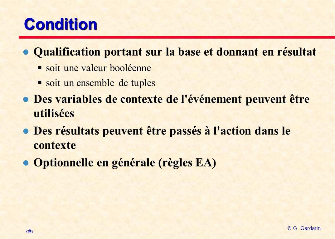 Condition Qualification portant sur la base et donnant en résultat