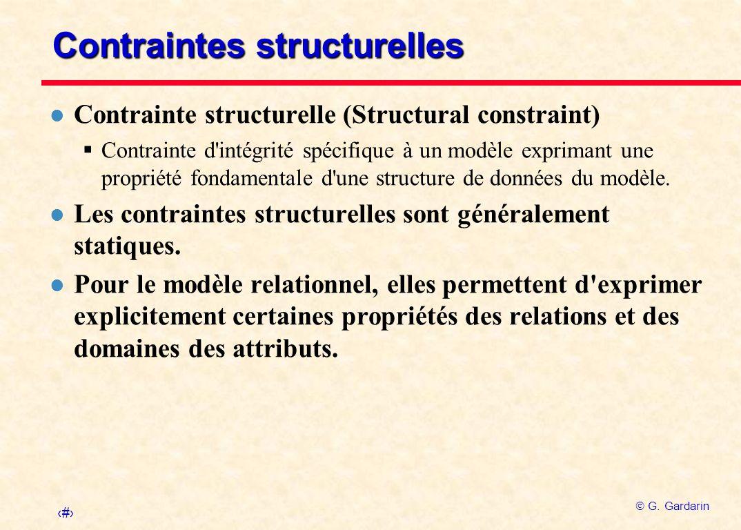Contraintes structurelles
