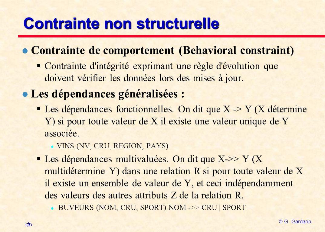 Contrainte non structurelle