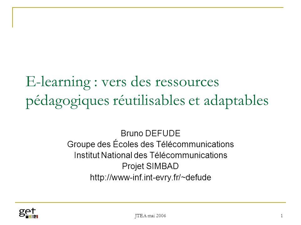 E-learning : vers des ressources pédagogiques réutilisables et adaptables