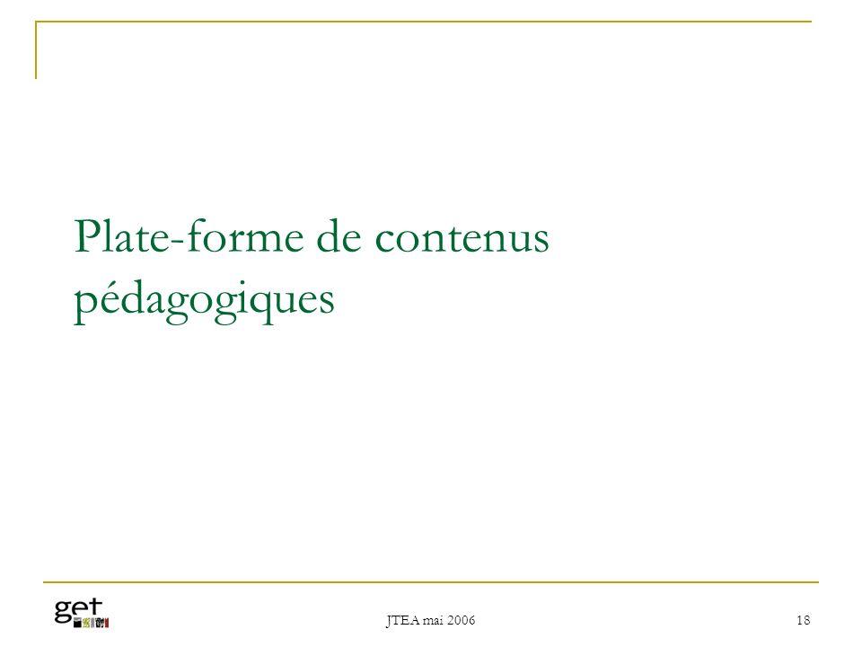 Plate-forme de contenus pédagogiques