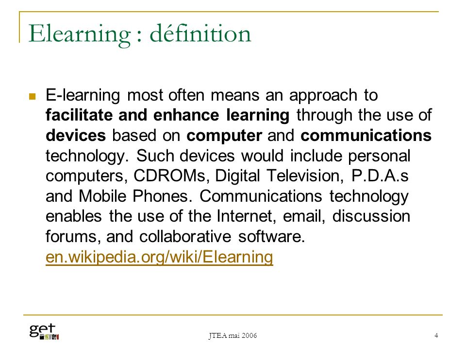 Elearning : définition