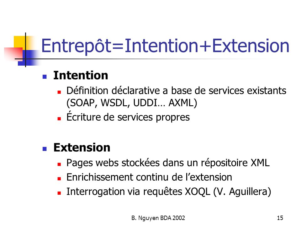 Entrepôt=Intention+Extension