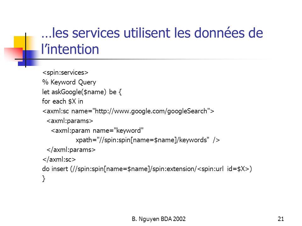 …les services utilisent les données de l'intention