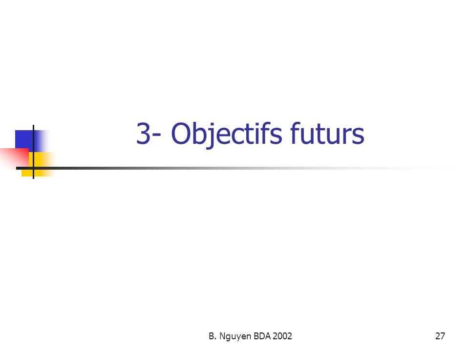 3- Objectifs futurs B. Nguyen BDA 2002