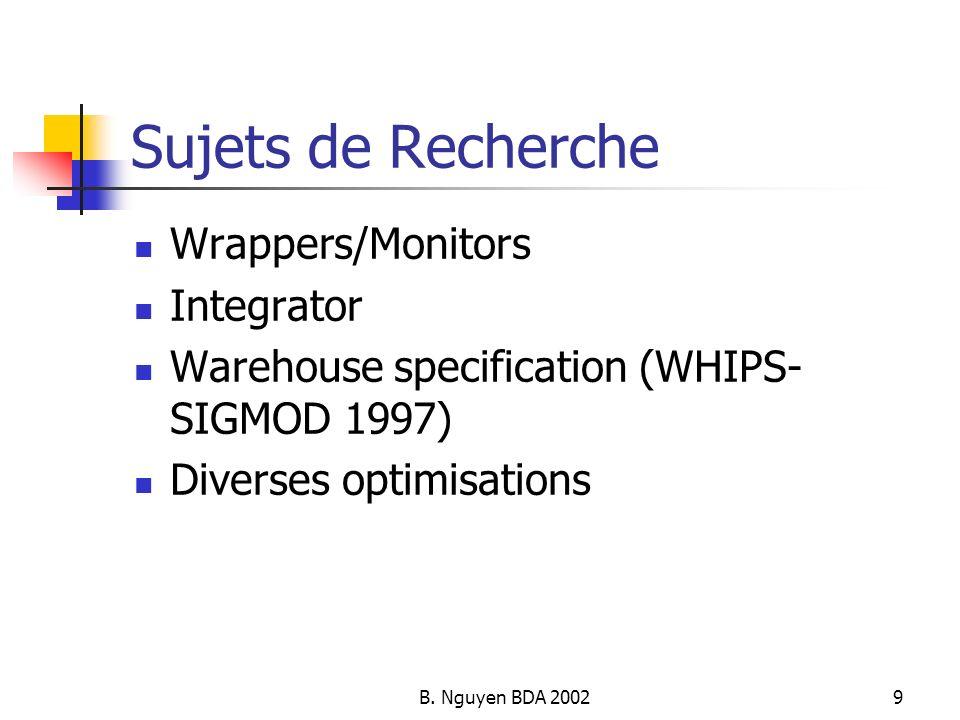 Sujets de Recherche Wrappers/Monitors Integrator