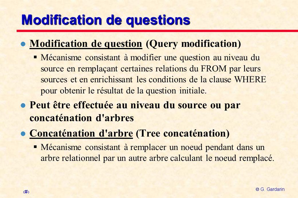 Modification de questions