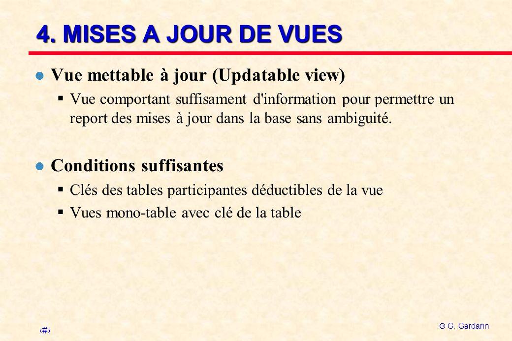 4. MISES A JOUR DE VUES Vue mettable à jour (Updatable view)